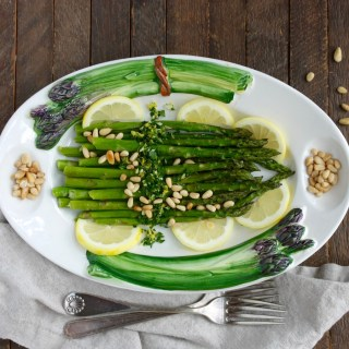 Roasted Asparagus with Gremolata and Pine Nuts