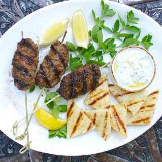 Mediterranean Grill:  Ground Meat Kebabs on Skewers