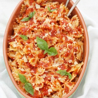 Marcella Hazan's Pasta with Simple Tomato and Butter Sauce