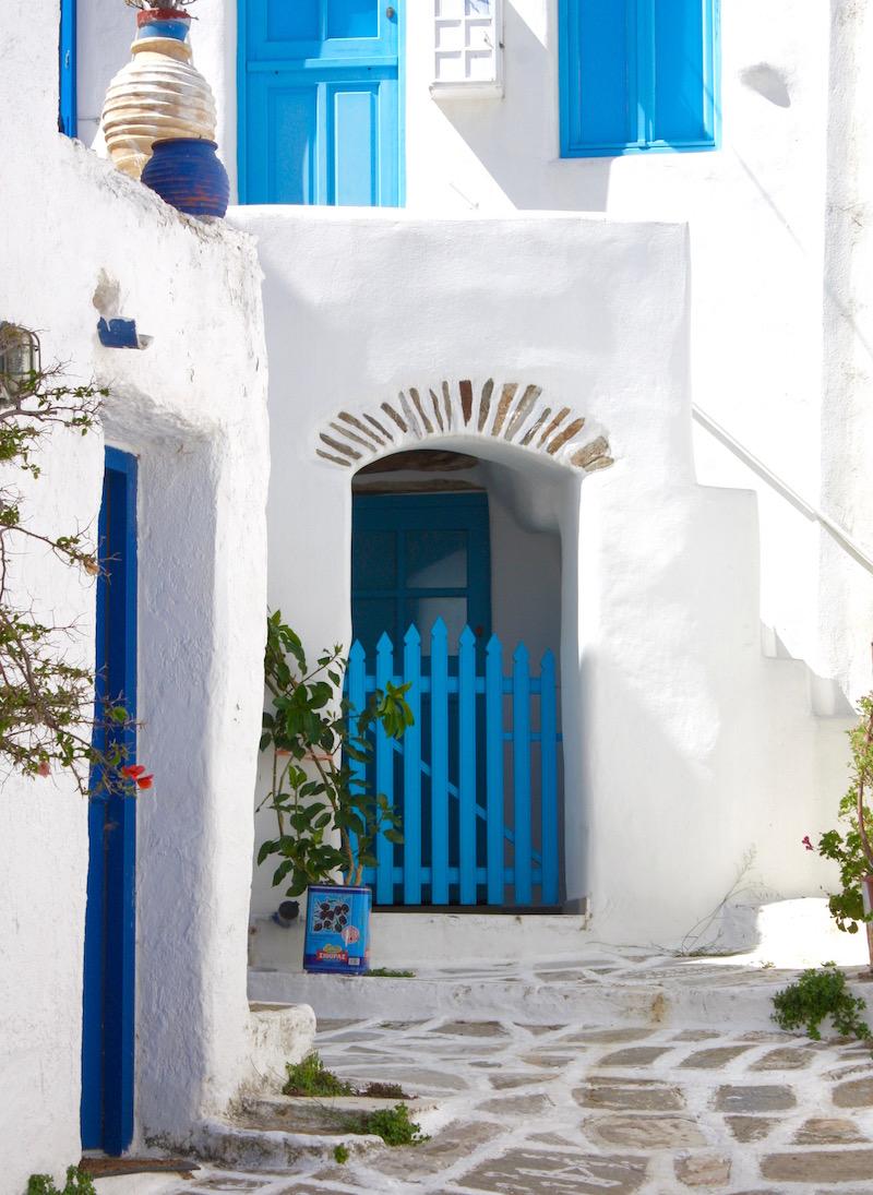 Greek Island Light - Street in Lefkes, Paros