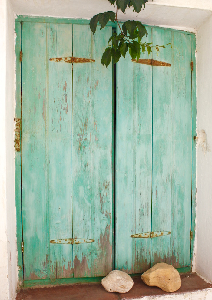 Doors of the Greek Islands - green window