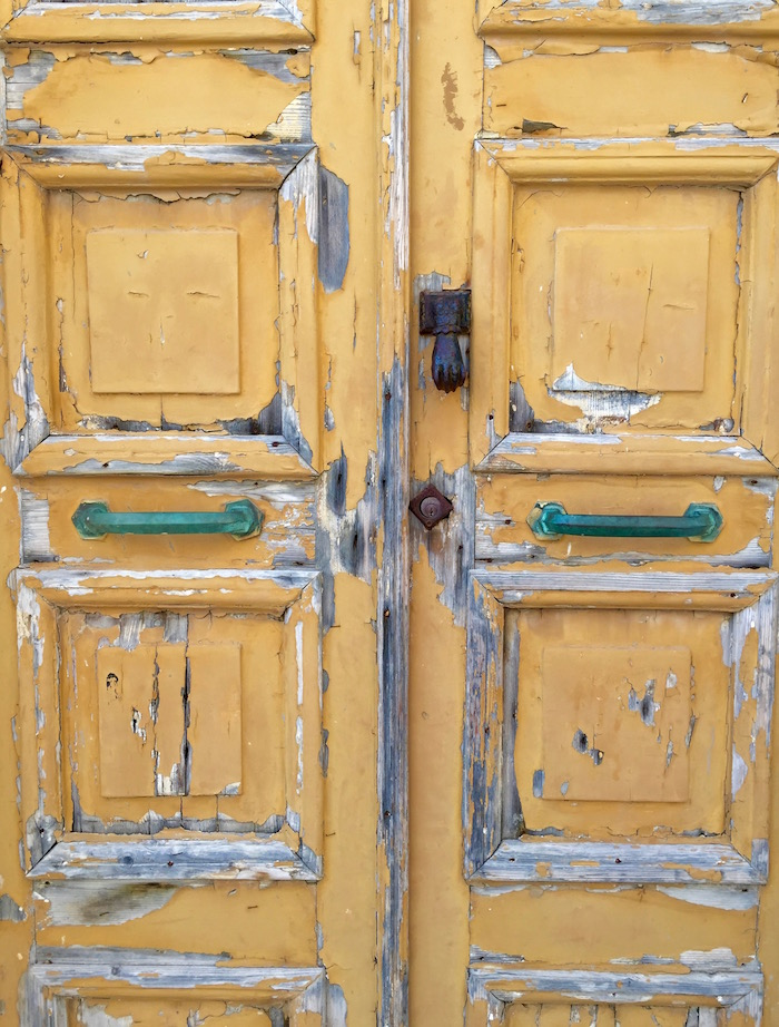 Doors of the Greek Islands - yellow door