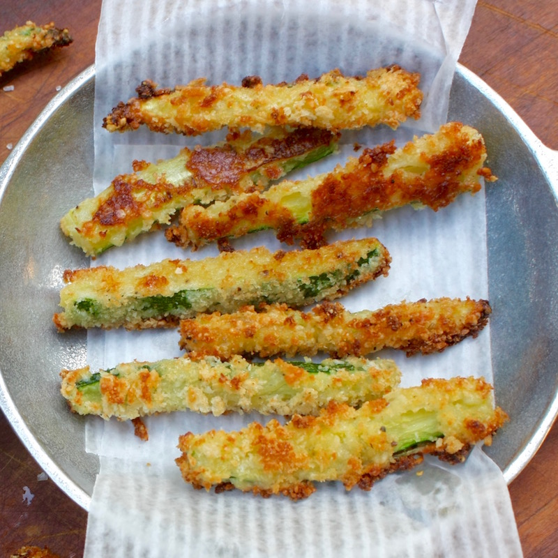 Baked Zucchini Fries 1.Sq.