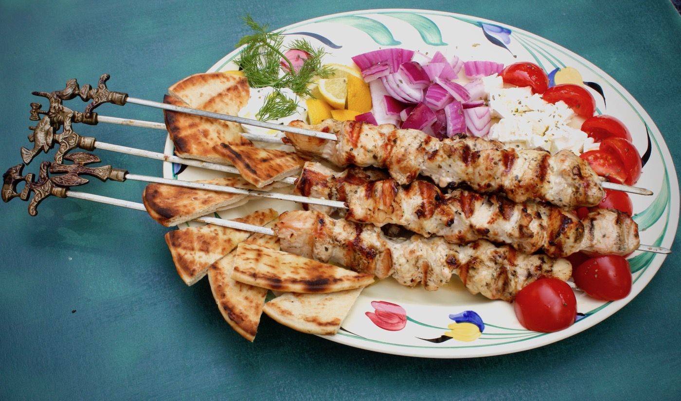 Traditional Greek Chicken Souvlaki Marilena S Kitchen