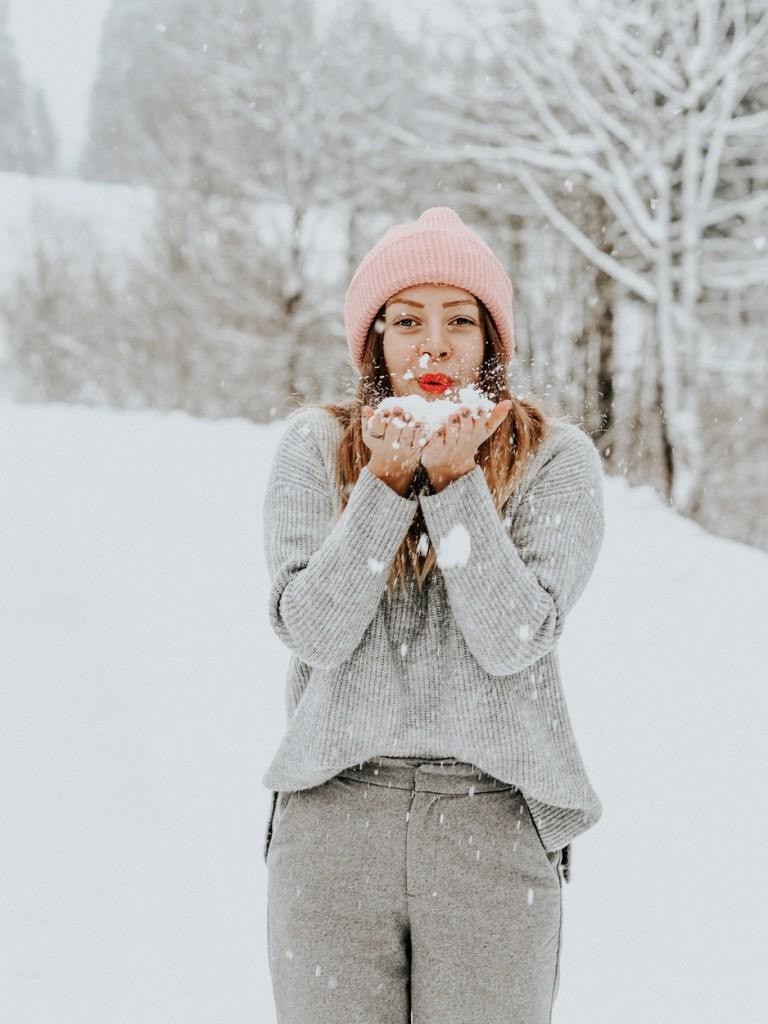 Spaziergang im Winter mit traumhafter Kulisse