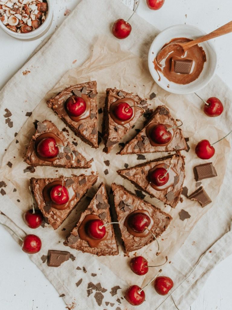 Schokotarte , sehr cremig , mit Seidentofu und Zartbitterschokolade