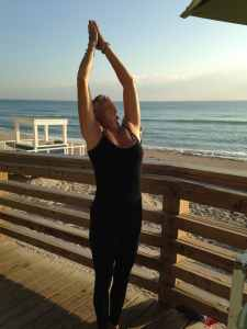 yoga, stretch, Miami Beach, back extension