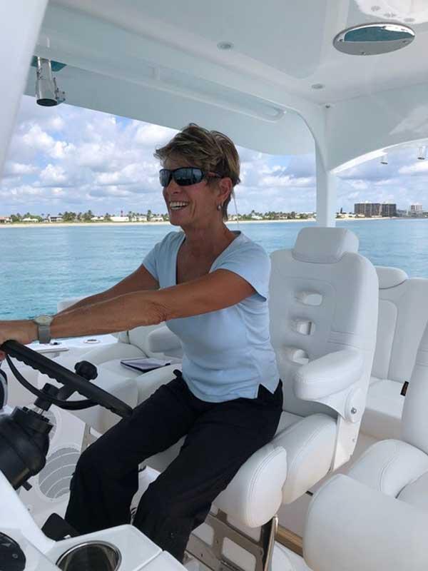 Marilyn DeMartini Sea trialing MD Drives HCB 450R