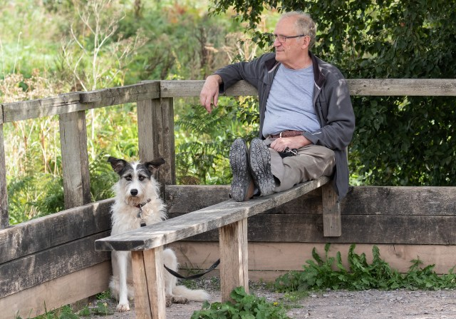 Rod and Tilly at RSPB Ham Wall