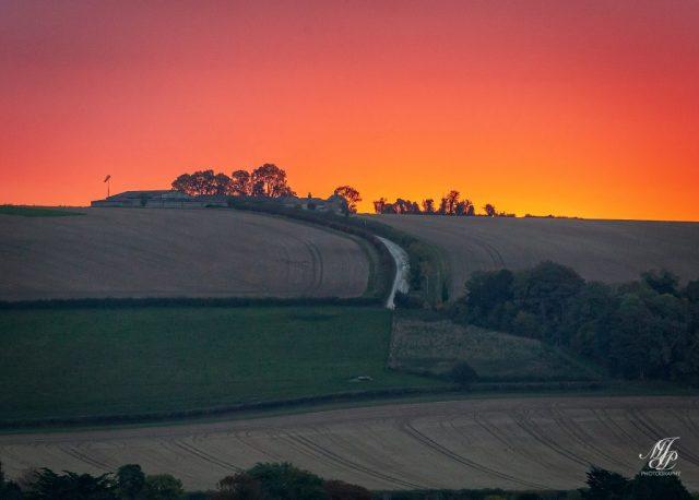 Sunrise over Shroton