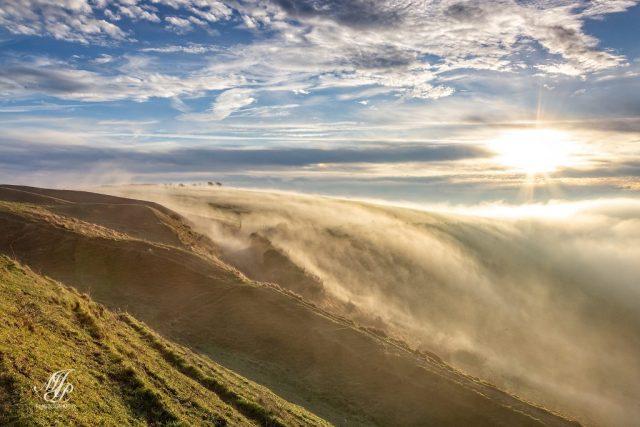 Fog enveloping Hambledon Hill