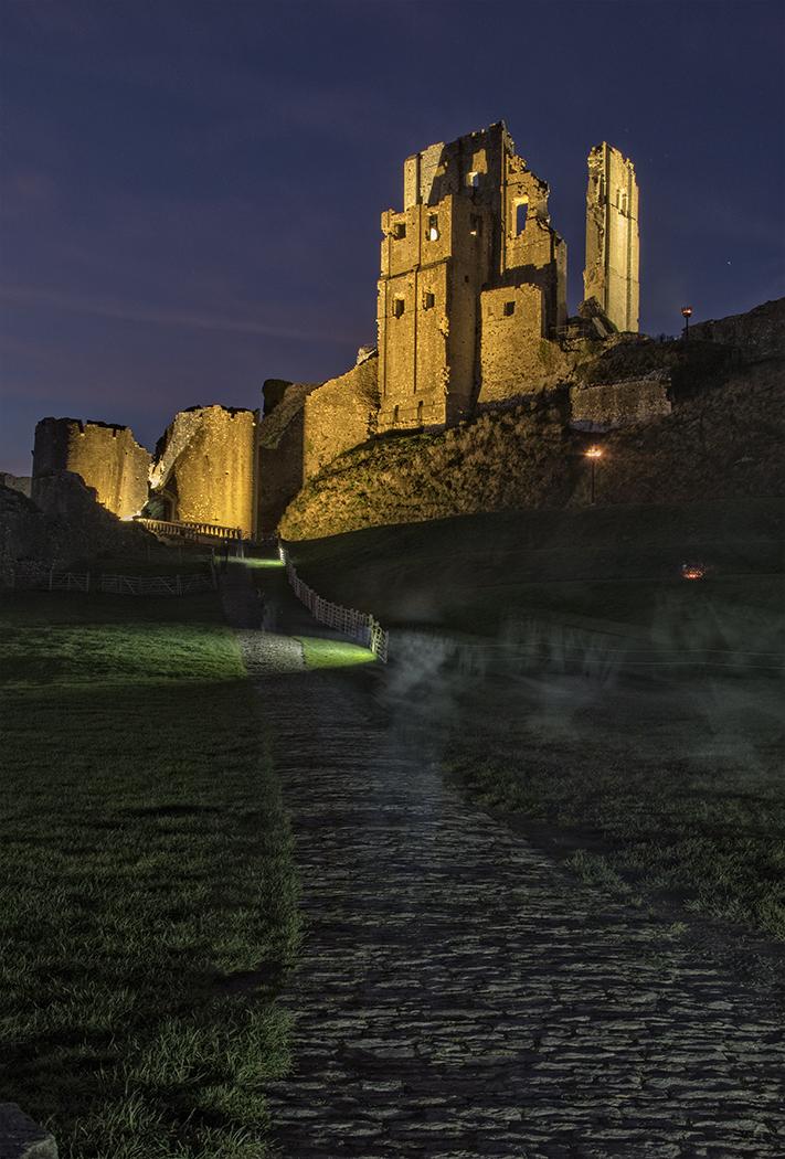 Corfe Castle at night  MarilynJane Photo Blog