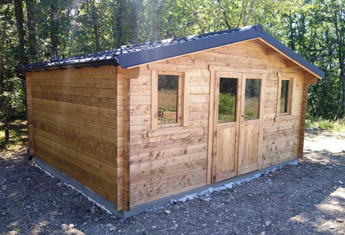 abri de jardin bois traite eco 19 80 m madriers 40 mm