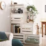 Estantería-DIY-con-cajas-de-madera-para-fruta