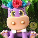 Hipopótamo de goma eva con moldes gratis