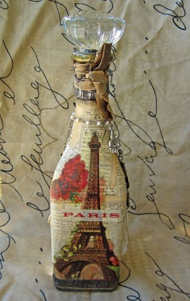 Ideas de decoupage en botellas (15)