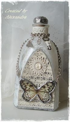 Ideas de decoupage en botellas (2)