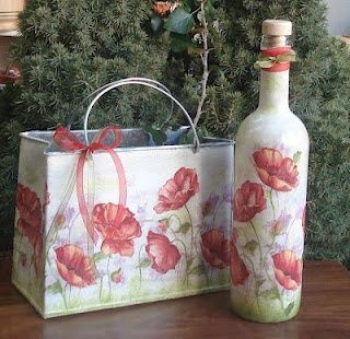 Ideas de decoupage en botellas (4)