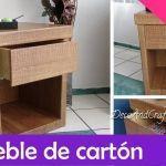Hacer un Mueble de cartón con apariencia de madera