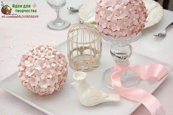 bola de flores para decorar