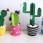 Cactus de papel para decorar