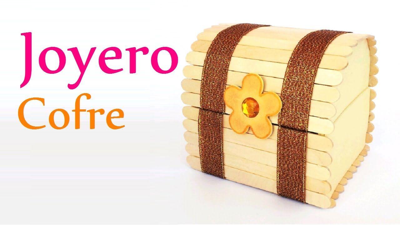 Joyero Cofre Con Palitos De Helado Paso A Paso Marina Creativa