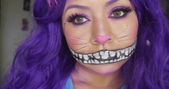 83be6143c maquillaje Halloween Gato de Cheshire - Marina Creativa