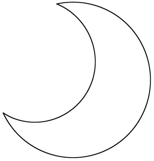 Molde para hacer almohadas en forma de luna 2