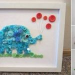 Cuadro de elefante con botones