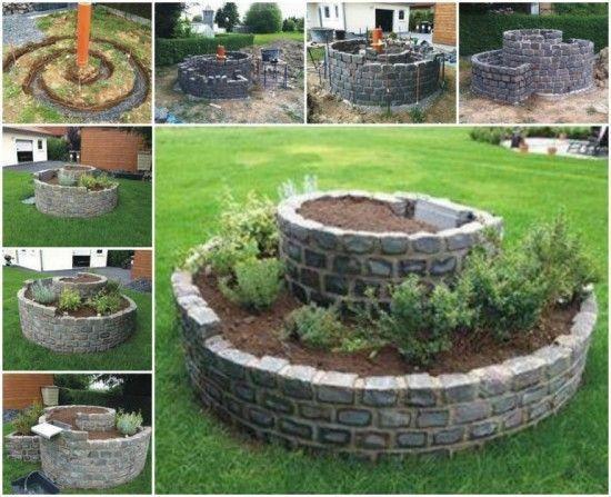 jardin espiral con plantas 1