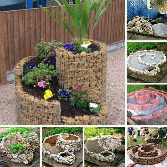 jardin espiral con plantas 2