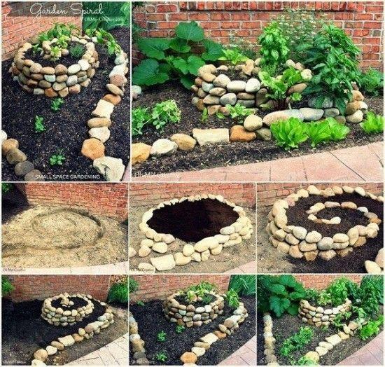 jardin espiral con plantas 4
