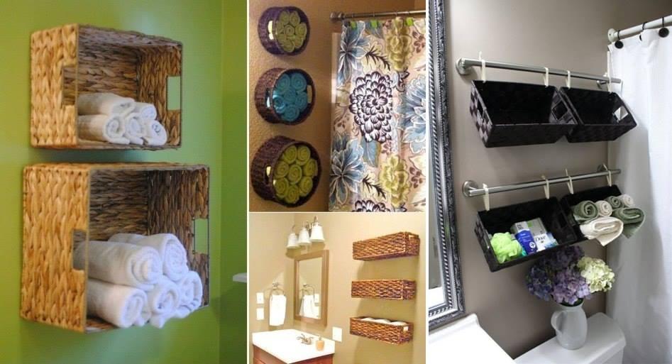 toalleros para almacenar y decorar