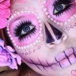 Maquillaje de Catrina pink