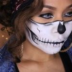 Maquillaje Haloween de Esqueleto girl