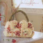 DIY bolso hexágonos de rosas