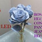 Como hacer rosas de tela con Jeans reciclados