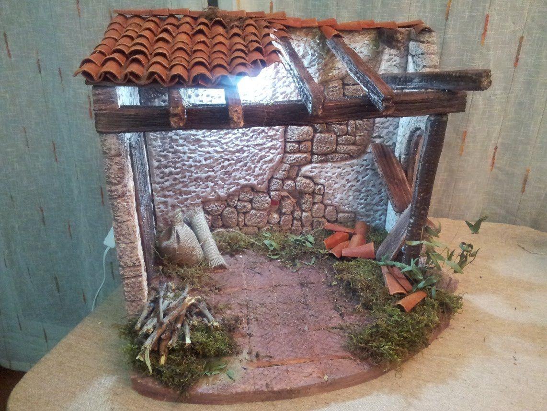 Como se hace una casa portal para pesebre marina creativa - Portales de belen originales ...