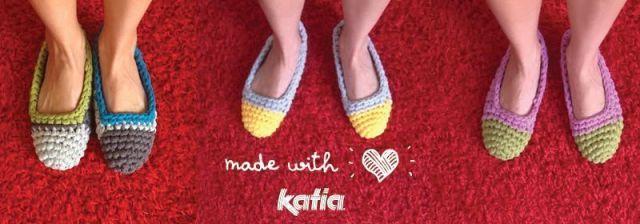 Zapatillas de trapillo con patrón