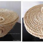 DIY como hacer un cesto de cuerda con tapa