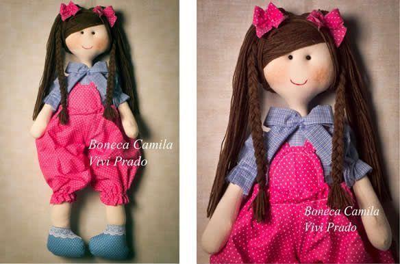 Muñeca de trapo con patrón