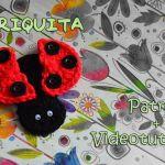 Mariquita broche con crochet