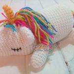 DIY Unicornio dormido amigurimi