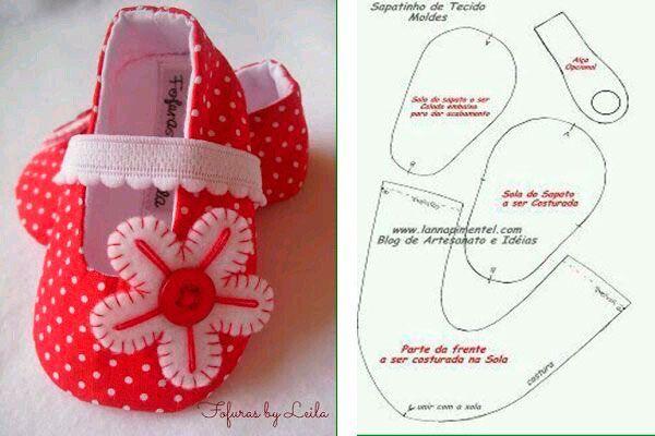 6 Modelos con molde de zapatillas para bebe 5
