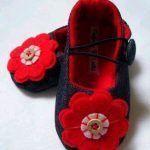 6 Modelos con molde de zapatillas para bebe