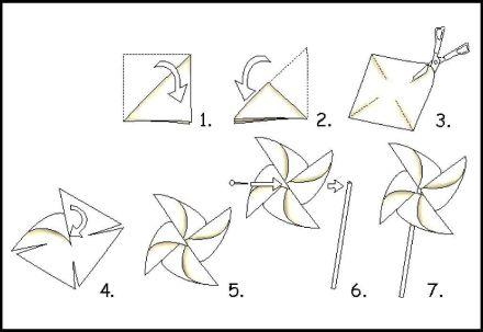 Como hacer molinillos de papel(3)