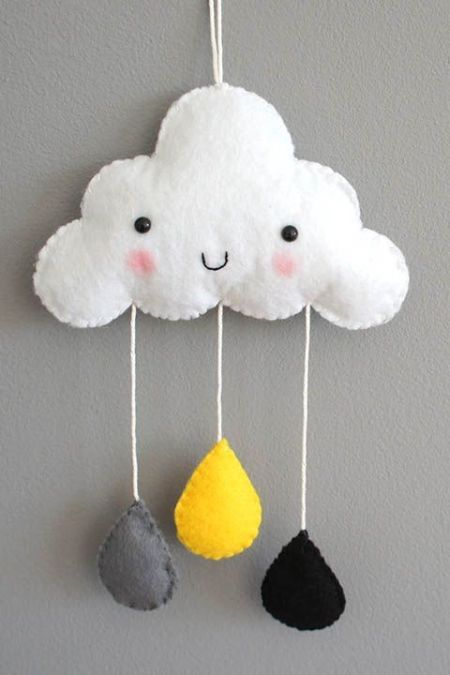 DIY Móvil de fieltro para habitación de bebe (2)