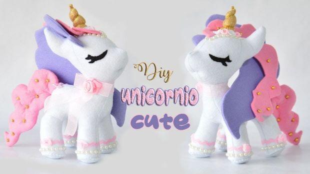 Diy y molde gratis para hacer un unicornio de fieltro