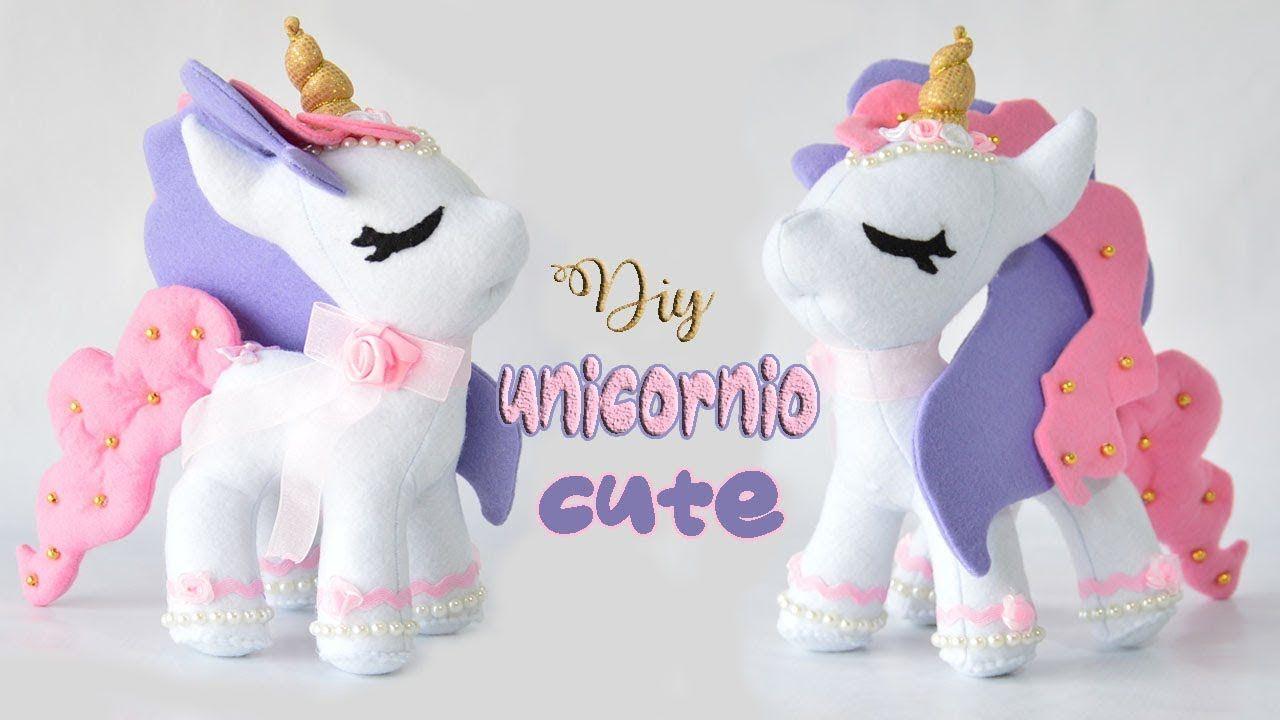 Diy y molde gratis para hacer un unicornio de fieltro - Marina Creativa