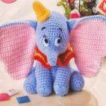 Patrón elefante Dumbo en amigurimi